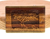 Laser Cut Wood Tree Belt Buckle