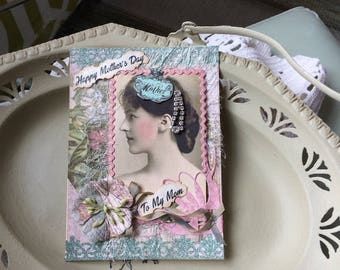Handmade Mother's Day Card - Victorian Mom Card - Happy Mother's Day Card
