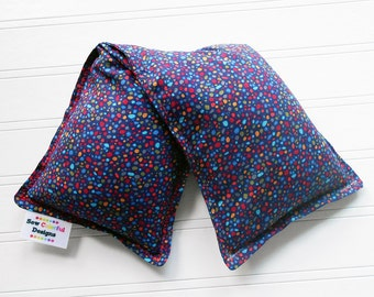 "Microwave Hot Cold Pack - Superior quality, perfect for male and female gifts - 4 Sizes avail ""Rainbow Pebbles"""