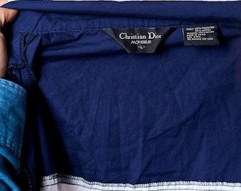 30% off SPRING SALE The Vintage Christian Dior Striped Short Sleeved Track Zip Up Jacket