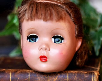 antique doll's head, moving eyes, Home Decor, cool vintage Laf T 14