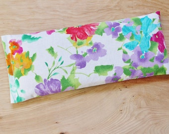 Lavender Flax Eye Pillow, Aromatherapy Headache Bag, Floral Gifts for Women