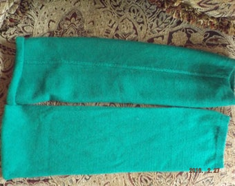 Hunter Green Leg Warmers Pure Cashmere Upcycled