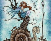 5x7 The Great Snail fairy PRINT by Amy Brown
