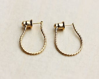 Chain Stud Earrings, Chain Earrings, Chain Link Earrings, Chain Studs, Gold Chain Studs, Gold Chain Earrings, Gold Hoops