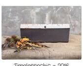 Tool Box - Metal Bin - Industrial Decor - Metal Box - Craft Storage - Metal Tool Box - Vintage Tool Box - Kitchen Storage - Tool Caddy