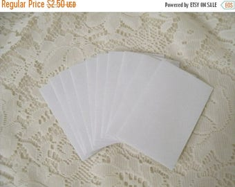 50% OFF Spring Cleaning 10 white envelopes for mini note cards
