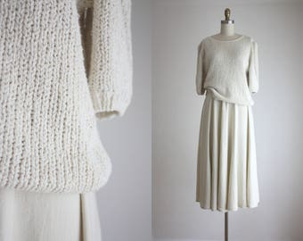 1980s linen knit sweater