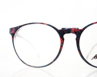ON SALE 1960s Round Marchon Eyeglasses Womens Unisex 60s Tortoiseshell Dark Amber Deadstock France French Optical Frames Glasses Sunnies P3