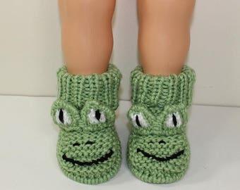 50% OFF SALE Instant Digital File pdf download knitting pattern Toddler Frog Boots