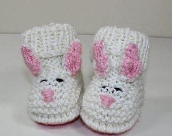 50% OFF SALE Instant Digital File pdf knitting pattern Toddler Bunny Boots knitting pattern
