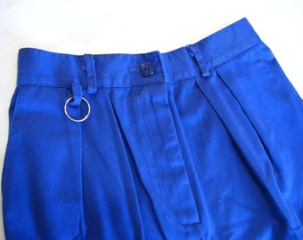 Vintage Alfred Sung Designed Guide Uniform Trousers Pants 1980s Girl Guides of Canada Official Uniform Guides Scouts Copen Blue