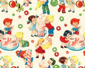 Michael Miller Fabric Candy Shop in Cream, Choose your cut