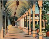 Vintage Florida Postcard - Archway at the Ringling Museum of Art, Sarasota (Unused)