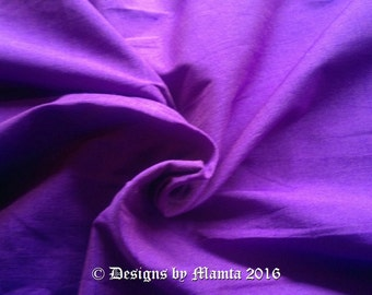Neon Purple Silk Dupioni Fabric By Yard, Purple Art Silk Fabric, Violet Indian Silk Fabric, Art Silk Curtain Fabric, Purple Dupion Silk