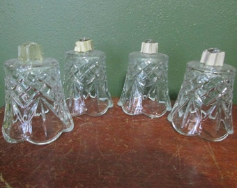 Candle Holders Clear Glass Votive Cups Set of 4
