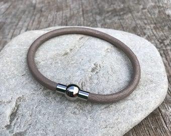 Nova Bracelet - Mink Leather with Magnetic Clasp