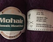 Berroco Mohair Yarn 3 Balls 3 Skeins Classic Heather Mohair Burgundy Purple Mix Free US Shipping!