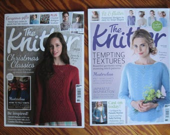 2 The Knitter Magazines Issue 91 and Issue 88 UK Knitting Patterns Free US Shipping!