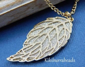 Leaf Necklace, Gold Leaf Necklace, Skeleton Leaf Necklace, Long Necklace, Pendant Necklace, Layering Necklace