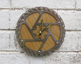 Recycled Avid Bicycle Disc Brake Wall Clock