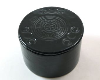 Hecate Wheel Triple Moon Box Handmade Pottery