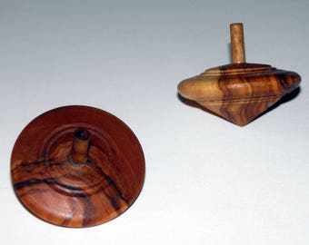 Olive Wood Handmade Spinning Top Toy. Olive Wood Spinning Toy. Greek Cretan Traditional Handmade Product. Traditional wood game. Ecofriendly