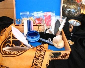 Altar Kit~ Mini Altar~ Hand Burned Design~One of a Kind