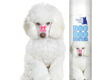 Poodle BOO BOO BUTTER All Natural Handcrafted Herbal Balm for Your Dog's Itchy Skin Irritations, Rashes, Scrapes & Discomforts .50 oz Tube