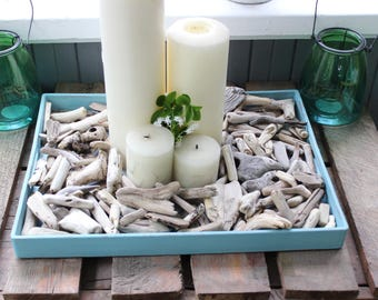 Nuggets of Natural Driftwood to Fill a Tray or Hurricane Vase, 95 Pieces to Scatter for Beach Centerpiece  DN139