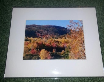 "Fall scene in Otter Creek, Maine      8"" x 10"" matted print"