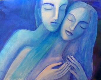 Embrace.  Giclee print