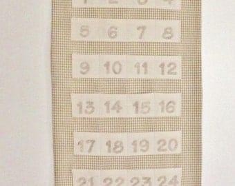 Christmas  Advent Calendar with Teddy Bear Neutral Count Down Christmas Calendar Count Down