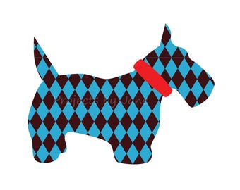 Scottie the Dog applique template | PDF applique pattern | applique template