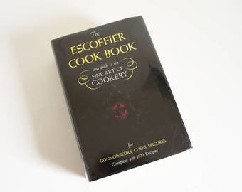 Vintage The Escoffier Cook Book And Guide To The Fine Art of Cookery 1941 HCDj VGC / For Connoiseurs Chefs Epicures, 2973 Recipes