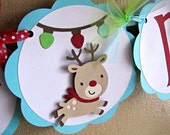 Reindeer Party Banner and Party Supplies - Reserved for LARRYLANE128