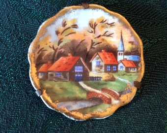 Limoges, Limoges plate, Limoges miniature plate, Limoges tiny plate, hand painted plate, small Limoges plate, decorative Limoges plate