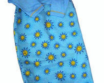 Preemie & Newborn Baby's Sunny Flannel Baby Gown