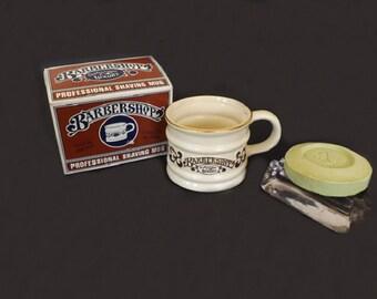 Vintage Franklin Barbershop Shaving Mug, Men's Shaving Accessories, Barber Shaving Mug, Shaving Soap, Men's Grooming, Barbershop Decor