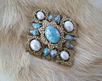 Vintage Jewelry Brooch Sarah Coventry Pin Statement Costume Jewelry