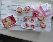 Dollhouse miniature cherry baking