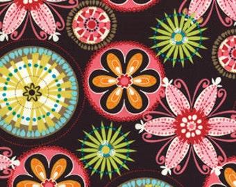 Carnival Bloom - Brown - Michael Miller Fabrics - 1 Yard - CX3028