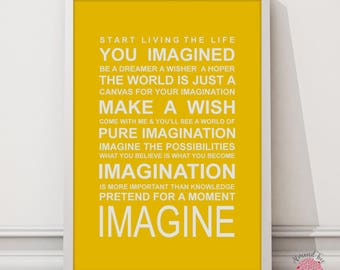 Expressions of you world- Imagine print
