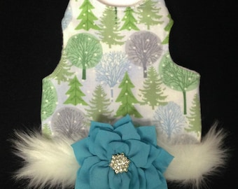 Winter Wonderland Couture Dog Harness Vest Shirt by Doogie Couture