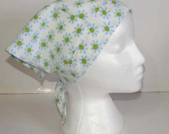 Triangle Kerchief, Adult Triangle Head Scarf, Bandana, Upcycled Vinatge Fabric
