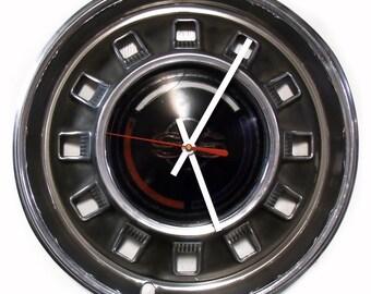 1967 Chevrolet Impala SS Hubcap Wall Clock - Retro Chevy Super Sport Car Hub Cap