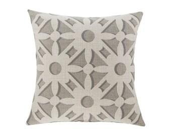 NEUTRAL Brown Grey Pillow Cover.Decorator Pillow Cover.Home Decor.Large Print. NOLA FLANNEL. Cushions. Cushion.Pillow. Premier Prints
