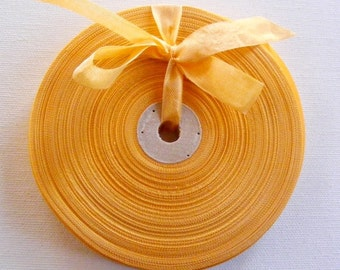 Vintage 1930's-40's French Woven Ribbon -Milliners Stock- 5/8 inch Cantaloupe