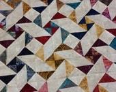 Batiks Scrappy Unfinished Quilt Top
