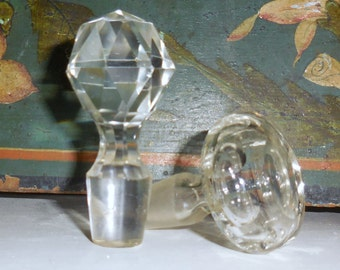 Glass Stoppers  Set of Two / Home Decor